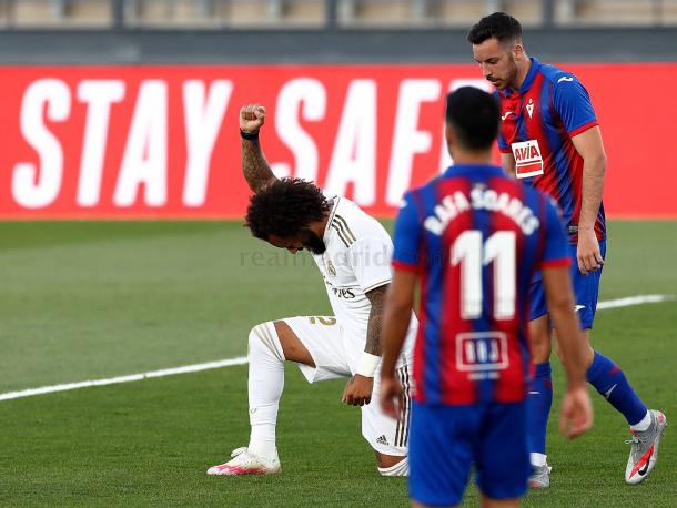 Marcelo dedica su gol a George Floyd. Real Madrid