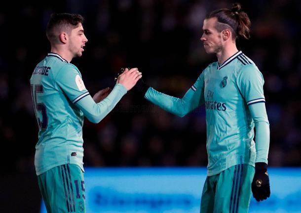 Bale tras su gol. Fuente: Real Madrid C.F