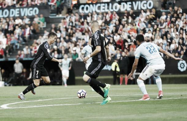 Cristiano firmó un doblete ante el Celta. | Foto: (realmadrid.com)