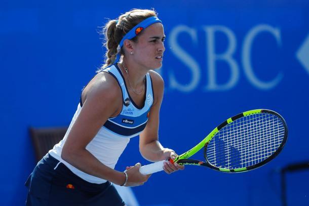 Monica Puig won against Daniela Hantuchova in straight sets. (Photo: Mextenis)