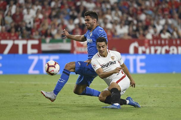Ben Yedder ante el Getafe   Foto: Sevilla FC