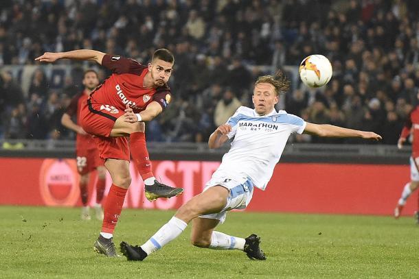 André Silva contra SS Lazio | Foto: Sevilla FC