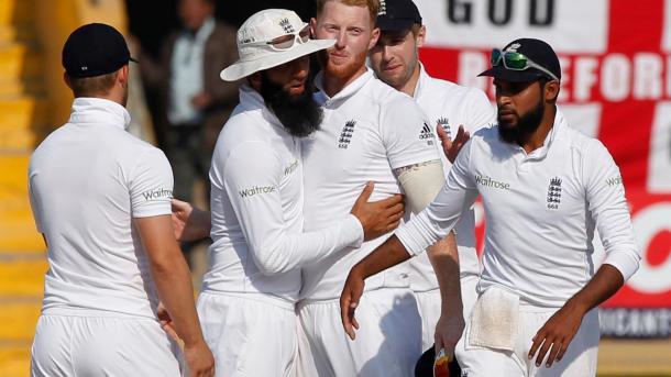 Stokes celebrates taking five wickets for England | Photo: ECB