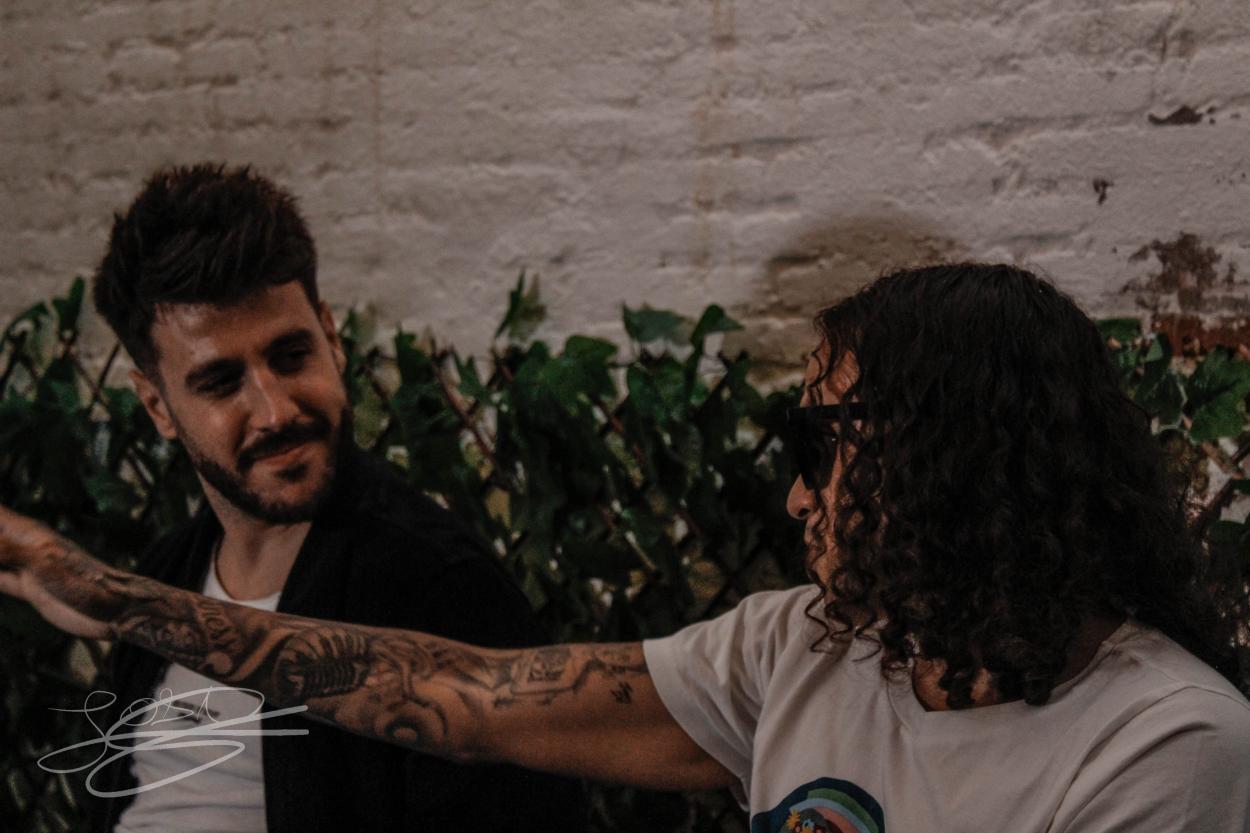 Antonio José y Jerry Di presentando Pirata en Barcelona / Foto: Joan Sánchez