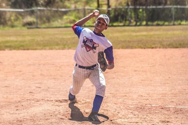 Hector Valero, pitcher ganador / Foto cortesía: @FotoSportGroup.