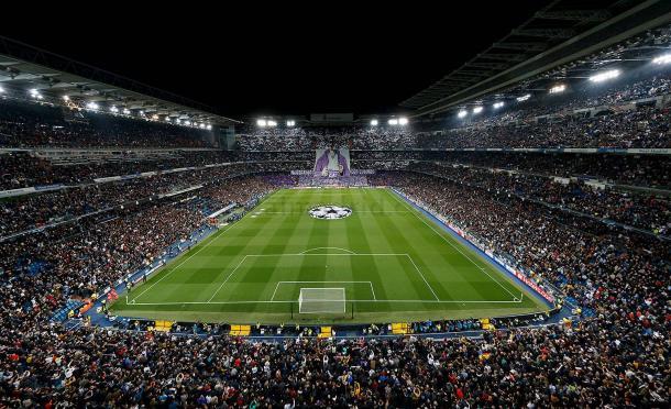 Instantánea del Bernabéu durante el encuentro de ida   Fuente: www.realmadrid.com
