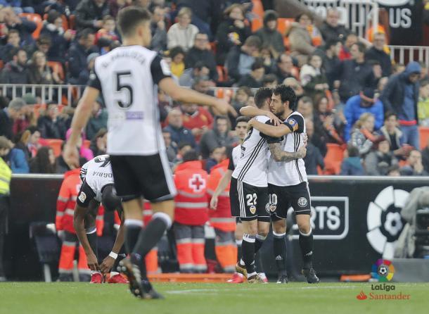 El Valencia es tercero, solo detrás de Barça y Atleti | Imagen: La Liga