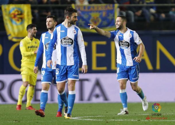 Andone celebra su gol ante el Villarreal | Imagen: La Liga