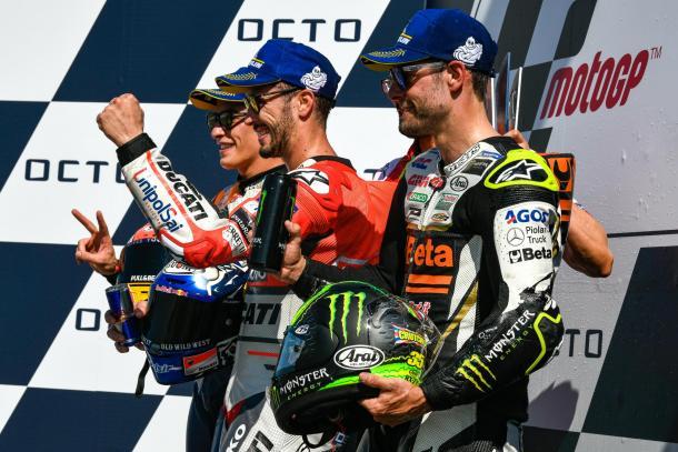 El podio del año pasado en San Marino. Imagen: MotoGP