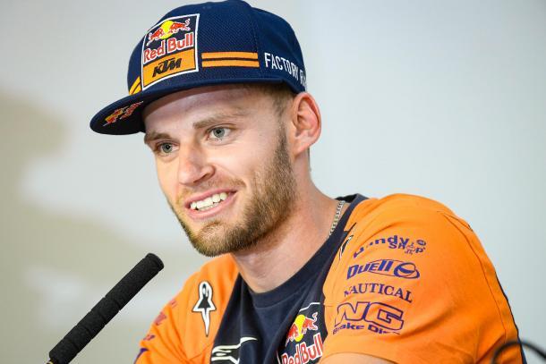 El sudafricano durante la rueda de prensa. Imagen: MotoGP