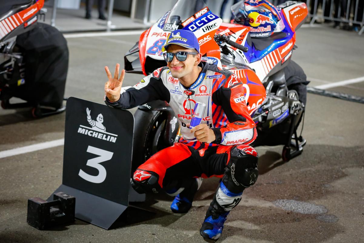 Jorge Martín celebrando su primer podio en MotoGP   Foto: motogp.com
