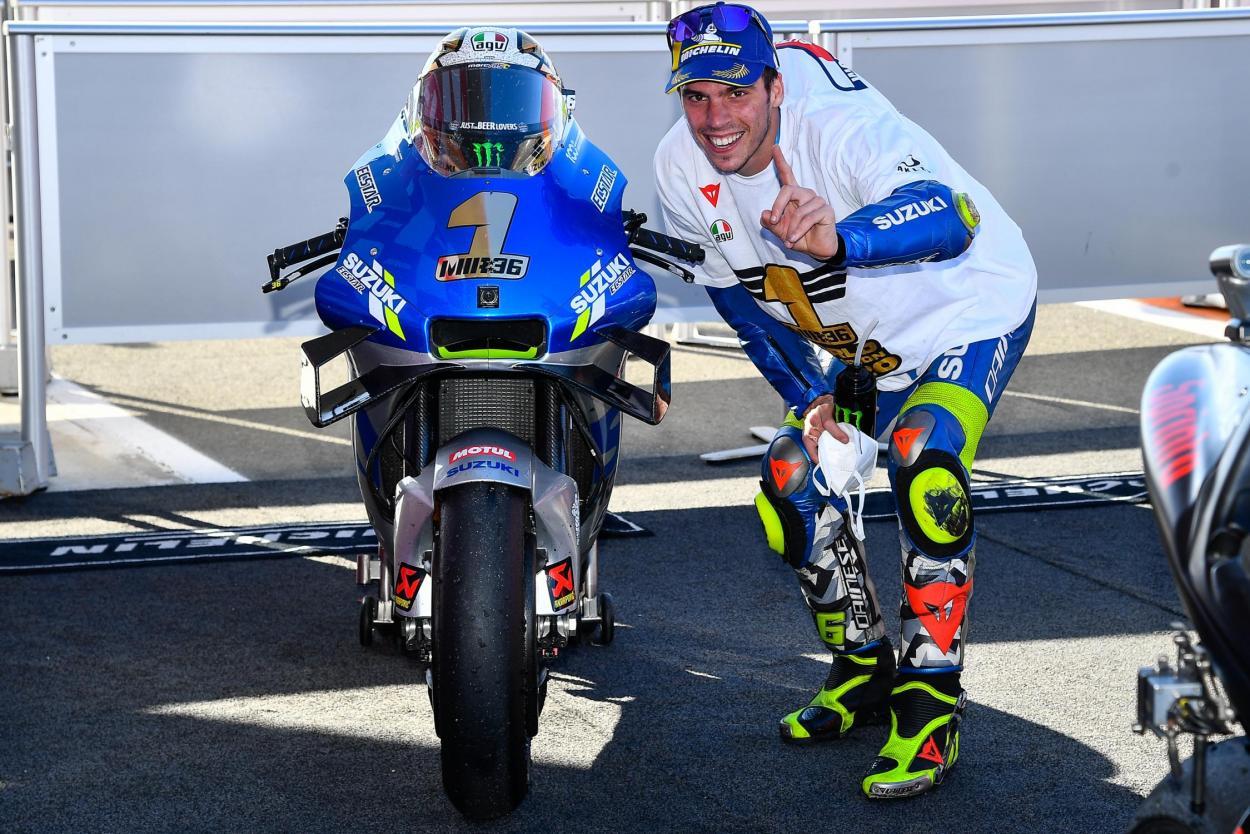 Joan Mir espera mejorar aun más el nivel de Suzuki en 2021. Imagen: MotoGP