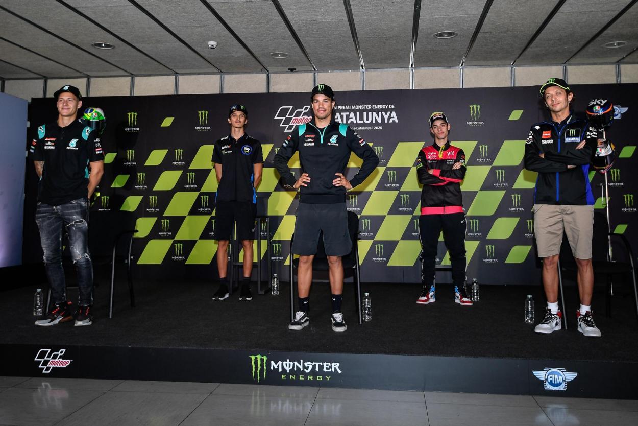 Los actos con la prensa también tuvieron que adaptarse para ser seguros. Imagen: MotoGP