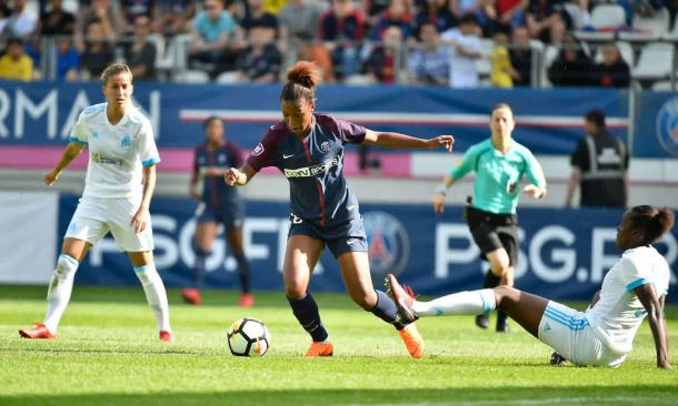Marie-Antoinette Katoto has sealed her spot this season as one of the upcoming stars in the game | Source: psg.fr