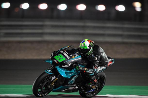 Morbidelli en pista durante los tests de este año. Imagen: MotoGP