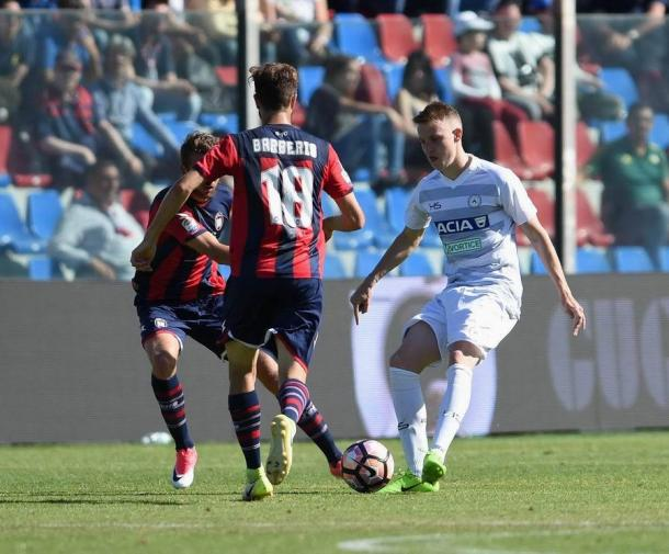 Jankto non è riuscito a farsi vedere. Fonte: www.facebook.com/UdineseCalcio1896