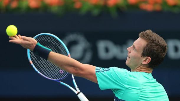 Tomas Berdych will be hoping to reach a third Dubai final on Saturday (Via SI Tennis)