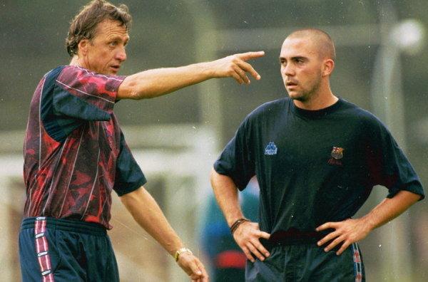 Cruyff y De la Peña (foto: barcacules)