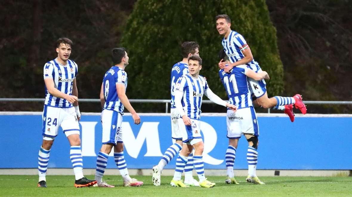 Celebración del segundo gol. Real Sociedad