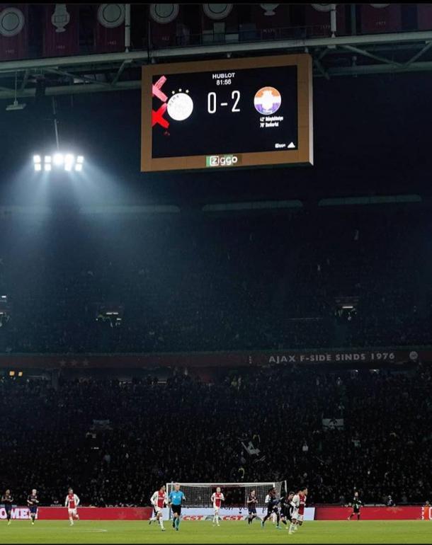 Resultado del Ajax vs Willem II de este fin de semana. Imagen vía: @willemii / Instagram