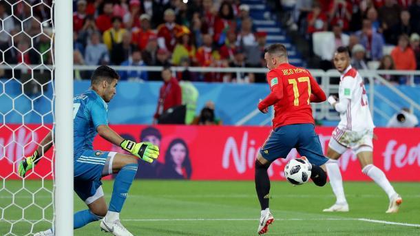 Iago Aspas scored a fine goal for Spain's equalizer | Source: Getty Images via FIFA.com