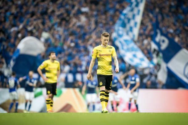 Ídolo do clube, Reus não foi capaz de levar sua equipe a vitória no clássico (Foto: Maja Hitij/Bundesliga/Getty Images)