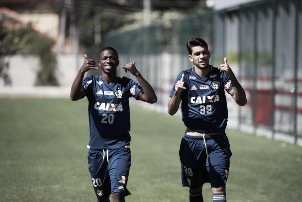 Vinícius Jr e Paquetá foram tópico da entrevista de Reinaldo Rueda (Foto: Gilvan de Souza/Flamengo)
