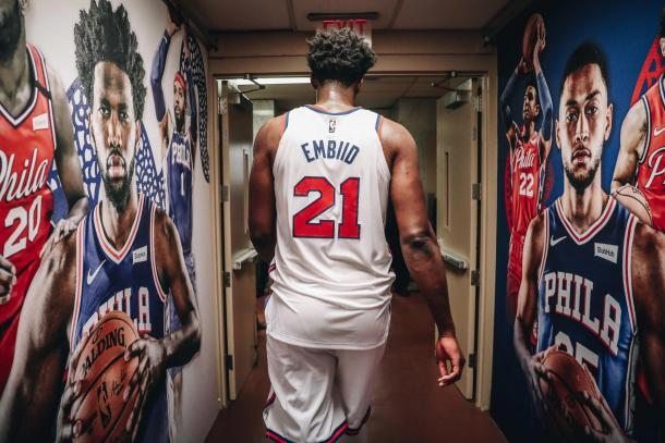 Joel Embiid. Fuente: Philadelphia 76ers