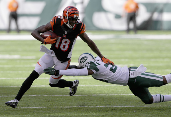 A. J. Green was an anima on offense. Credit: Streeter Lecka/Getty Images North America