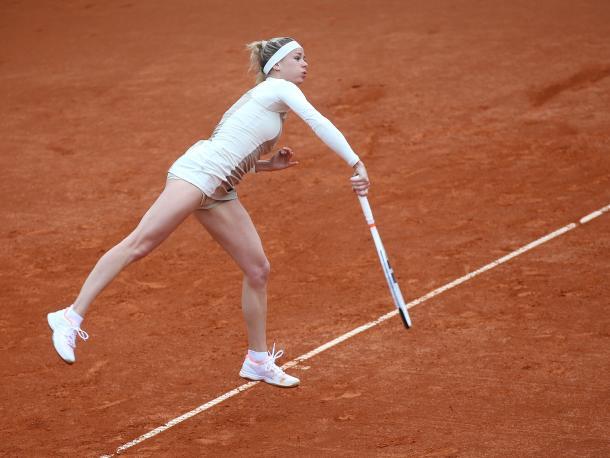 Camila Giorgi in action | Photo: J&T Banka Prague Open
