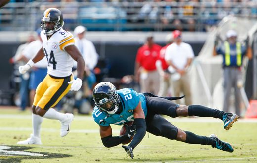 Jalen Ramsey was at his very best today against the Steelers | Source: Douglas DeFelice-USA TODAY Sports