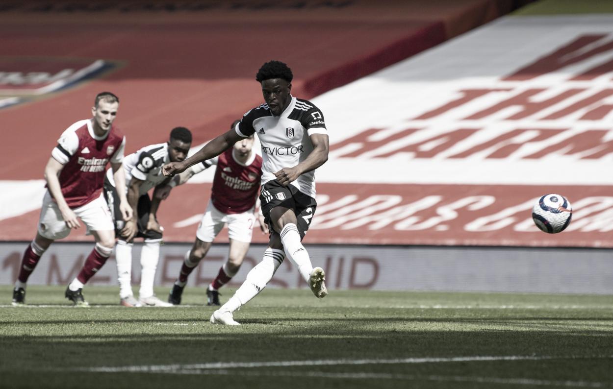 Maja hizo el primer gol de penalti.   Foto: @FulhamFC