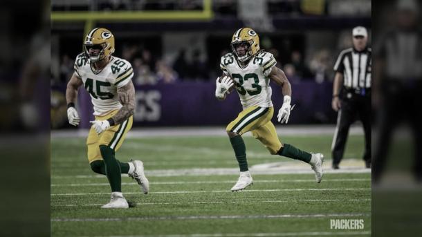 Las esperanzas de los Packers están en los acarreos de Aaron Jones (foto Packers.com)