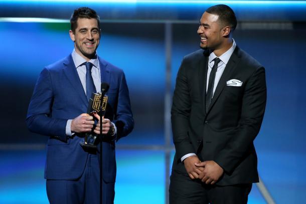 Aaron Rodgers e Richard Rodgers autori della giocata dell'anno (Perry Knots/NFL)