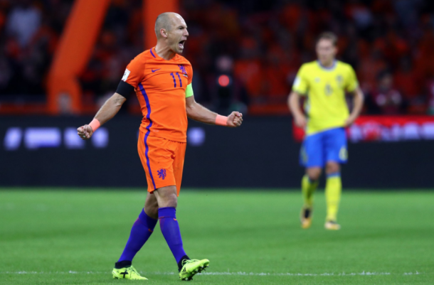 El '11' neerlandés celebrando el 2-0. Fuente: FC Bayern