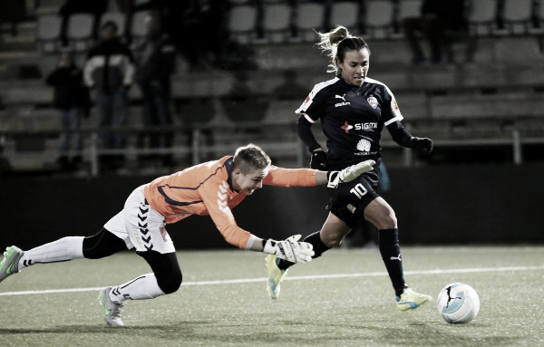 Rosengård's top scorer Marta will be hoping to add to her tally (Source: skd.se)