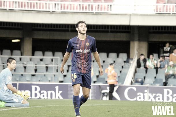Abel Ruiz con la camiseta del Barça B I Foto: Noelia Déniz (VAVEL)