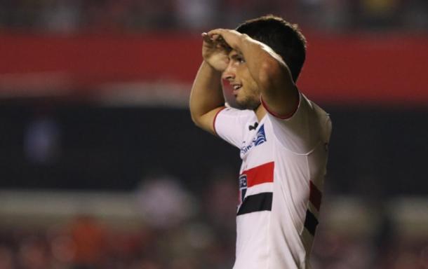 Toca no artilheiro: Calleri lidera a ponta dos goleadores da América (Foto: Rubens Chiri / São Paulo FC)