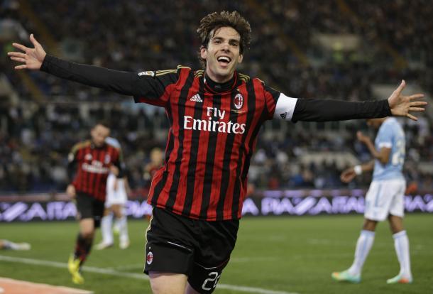 Kaká, en su segunda etapa como rossonero | Foto: Getty Images