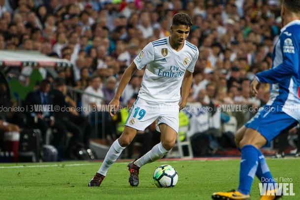 Achraf en su debut ante el Espanyol/ Foto: Daniel Nieto (VAVEL España)