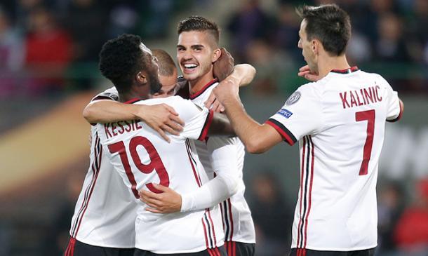 AC Milan obteniendo una victoria más / Foto: acmilan.com