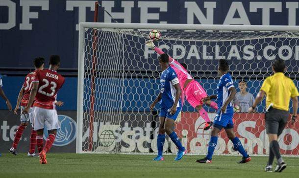 Kellyn Acosta scored the second and third goals of the night against Arabe Unido. | Photo: CONCACAF