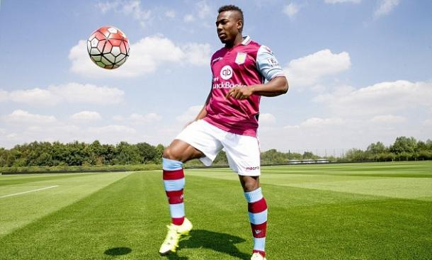 Adama Traore during his unveiling as Aston Villa | Photo: AVFC via Getty Images