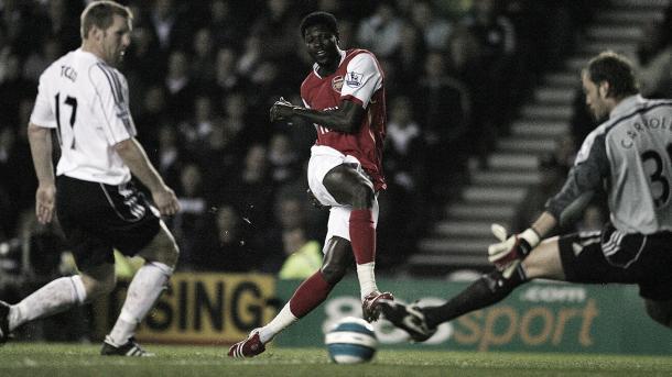 Emanuel Adebayor en el Arsenal./ Foto: Premier League