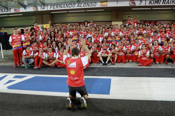 Fernando Alonso, última carrera con Ferrari, 2014 / Fuente: Zimbio