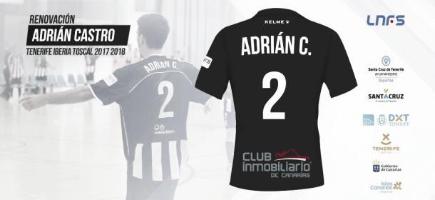 Así anunciaba Tenerife la renovación de Adrián Castro | Foto: @IberiaToscal