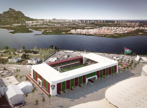 Flu usaria estrutura do Estádio Aquático para a construção de estádio no Parque Olímpico (Foto: Reprodução)