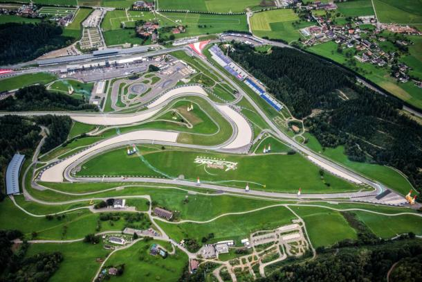 Aerial shot of the Red Bull Ring, Austria - www.motogp.com