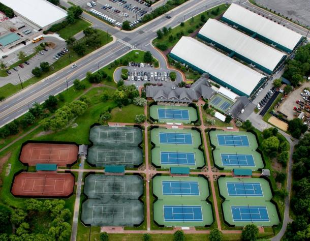 An aerial view of JTCC, where the first-ever Citi Open for the WTA took place