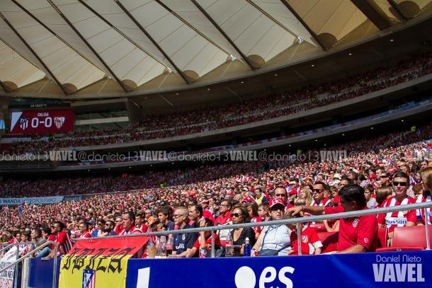 Afición del Atleti en el Wanda Metropolitano | Foto: Daniel Nieto (VAVEL)